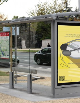 Advertising Bus stop