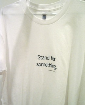 Uniform T-shirt, Stand for something