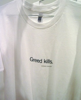 Uniform T-shirt, Greed kills