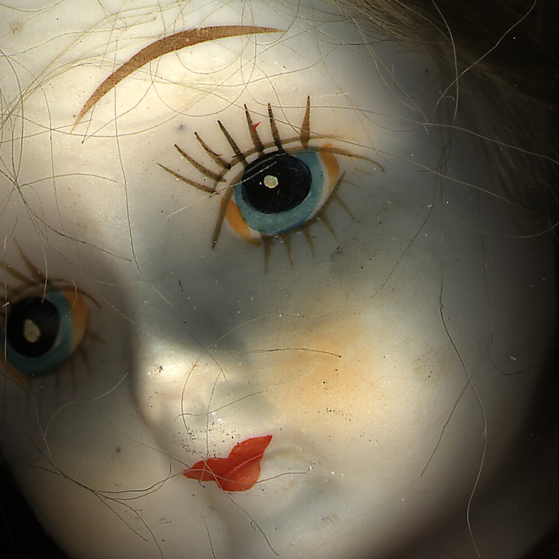 Doll face scan from artwork Stitche from Composite Series